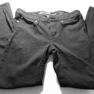 Eddie Bauer Black Pants Curvy Slim Straight Size 6